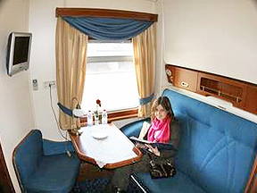 Grand Trans-Siberian Private train: Deluxe Gold Compartment