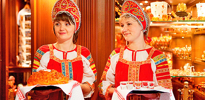 2018 Russia Luxury River Cruise: Bread&Salt Welcome Ceremony