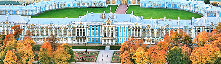 Catherine's Palace in suburban town of Pushkin outside of St. Petersburg Russia, UNESCO World Heritage list