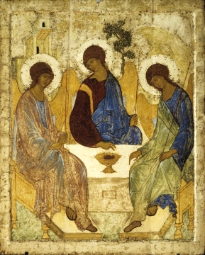 12th century Icon by Andrei Rublev, Trinity