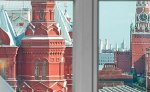 Kremlin view from a Studio room, the National Hotel,downtown Moscow
