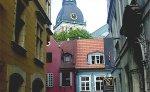 Narrow cobbled streets of Riga